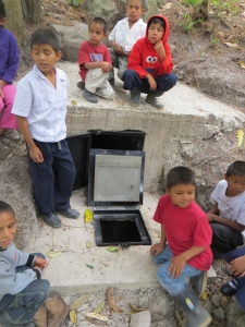 The kids were exploring the now protected water source